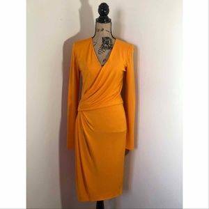 Salvatore Ferragamo Faux Wrap Dress *42 EU 6 US